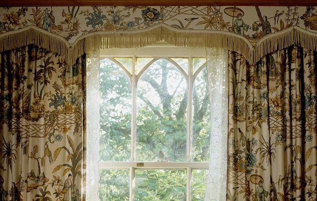 chintz curtains.