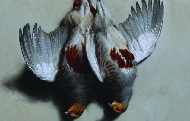 A part of the painting, Goodberry Partridge, by James Gillick.
