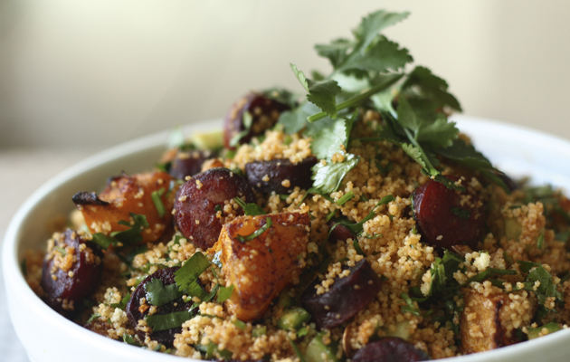 Chorizo, squash and couscous salad. 10 best salad recipes.