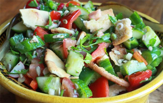 Fattoush salad.