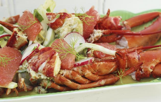 Lobster, grapefruit and fennel salad. 10 best salad recipes.