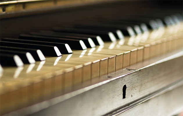 how to clean piano keys the field