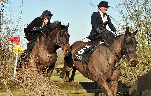 The only side-saddle steeplechase in the world takes place in Leicestershire this weekend.