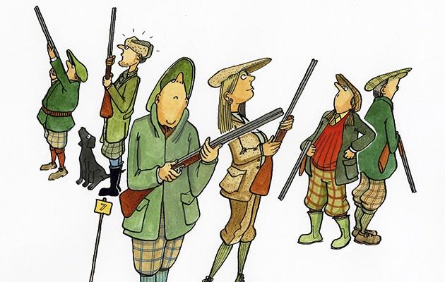 Shooting etiquette. Too many guns