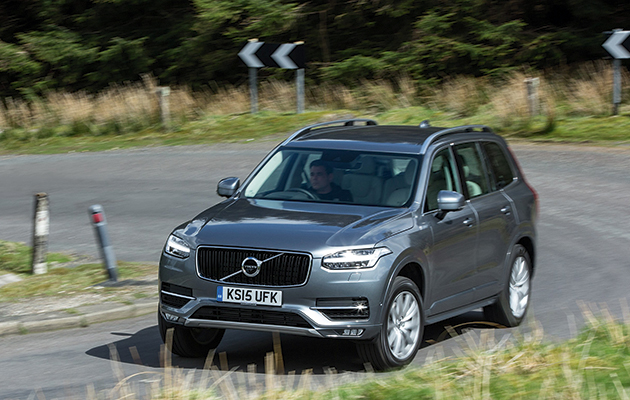 volvo xc90 d5 momentum majestic on road the field. Black Bedroom Furniture Sets. Home Design Ideas