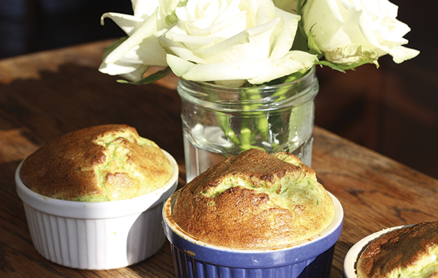 Asparagus and gruyere souffle