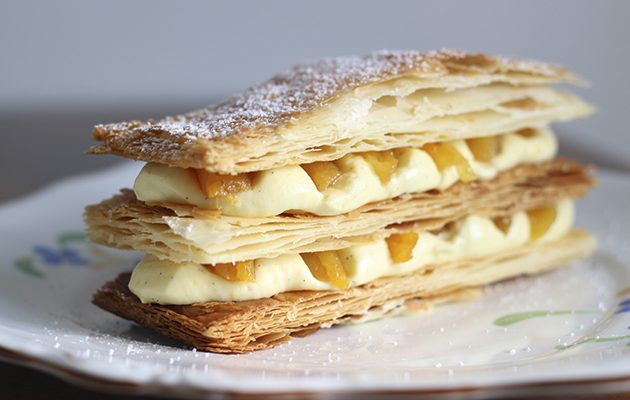 Apricot mille feuille