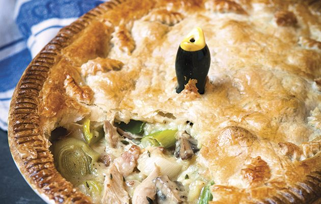 Anna Burges-Lumsden's rabbit, pheasant and bacon pie