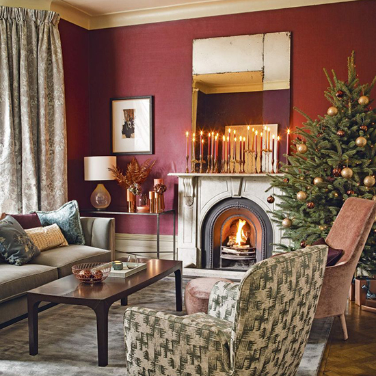 Country Christmas Living Room Designs The Field