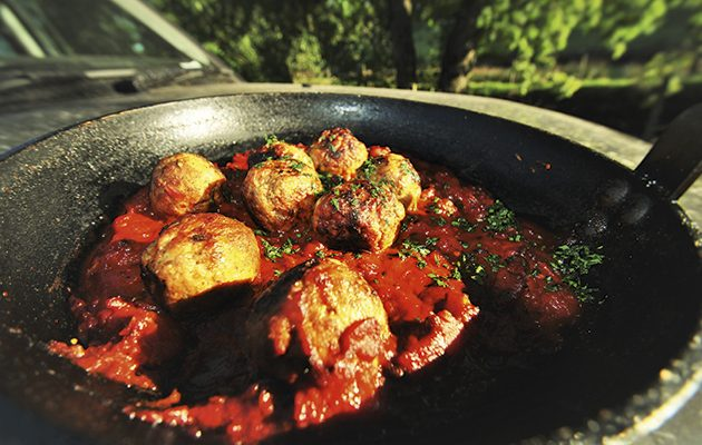 PHeasant polpette in an agrodolce sauce