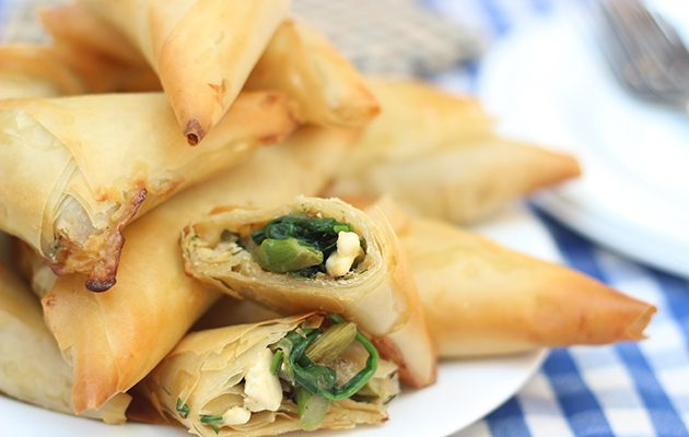 Asparagus and feta pastries