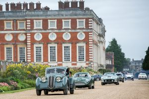 Concours of Elegance. Driving past Hampton Court