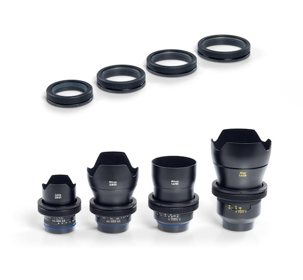 Zeiss Lens Gears will be available in four different sizes for all Zeiss Otus, Milvus and Loxia lenses