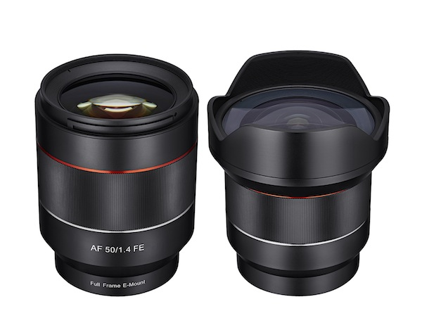 The first-ever Samyang AF lenses are the 14mm F2.8 ED AS IF UMC and the 50mm F1.4 AS IF UMC