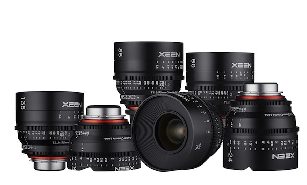 The Samyang XEEN prime cine lens range now ranges from 14mm up to 135mm