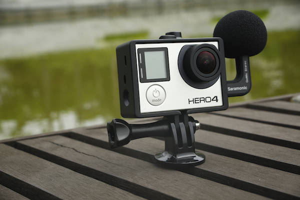 The new Saramonic SRACM1 Professional Stereo Microphone plugs directly into GoPro Hero action cameras