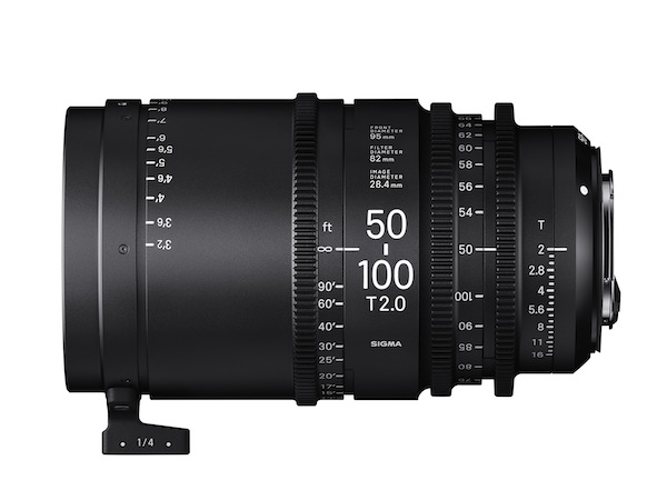 The 50-100mm T2 is one of two new 'High Speed' cine zooms from Sigma due to launch in 2016