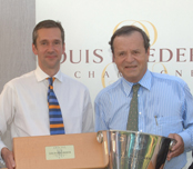 John Stimpfig with JC Rouzaud, head of Louis Roederer