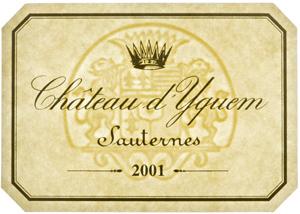 d\'Yquem 2001 label