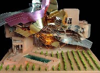 Model of Marques de Riscal's new City of Wine