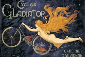 Cycles Gladiator label - nude nymph label
