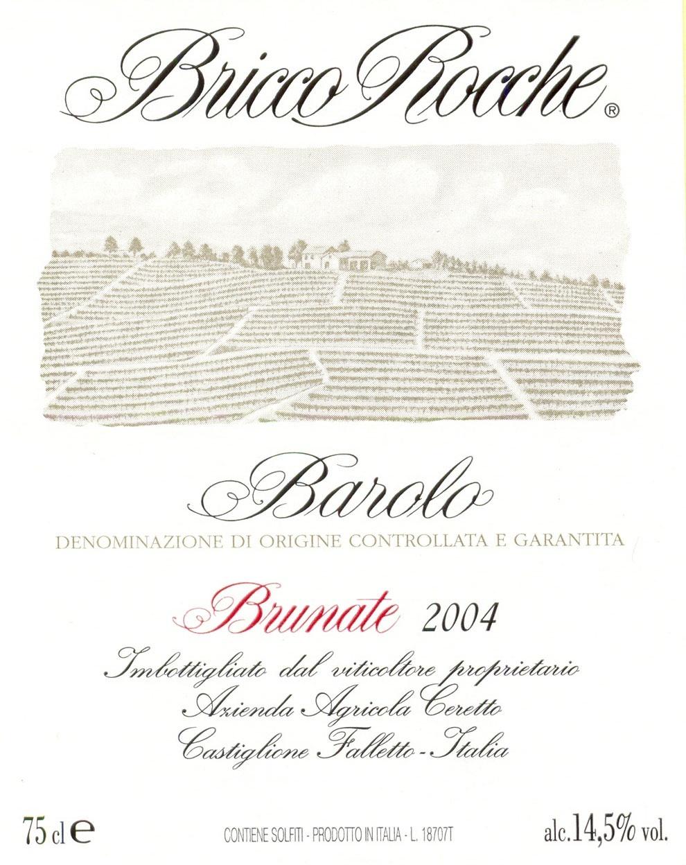 Barolo Brunate 2004 Ceretto Barolo Brunate