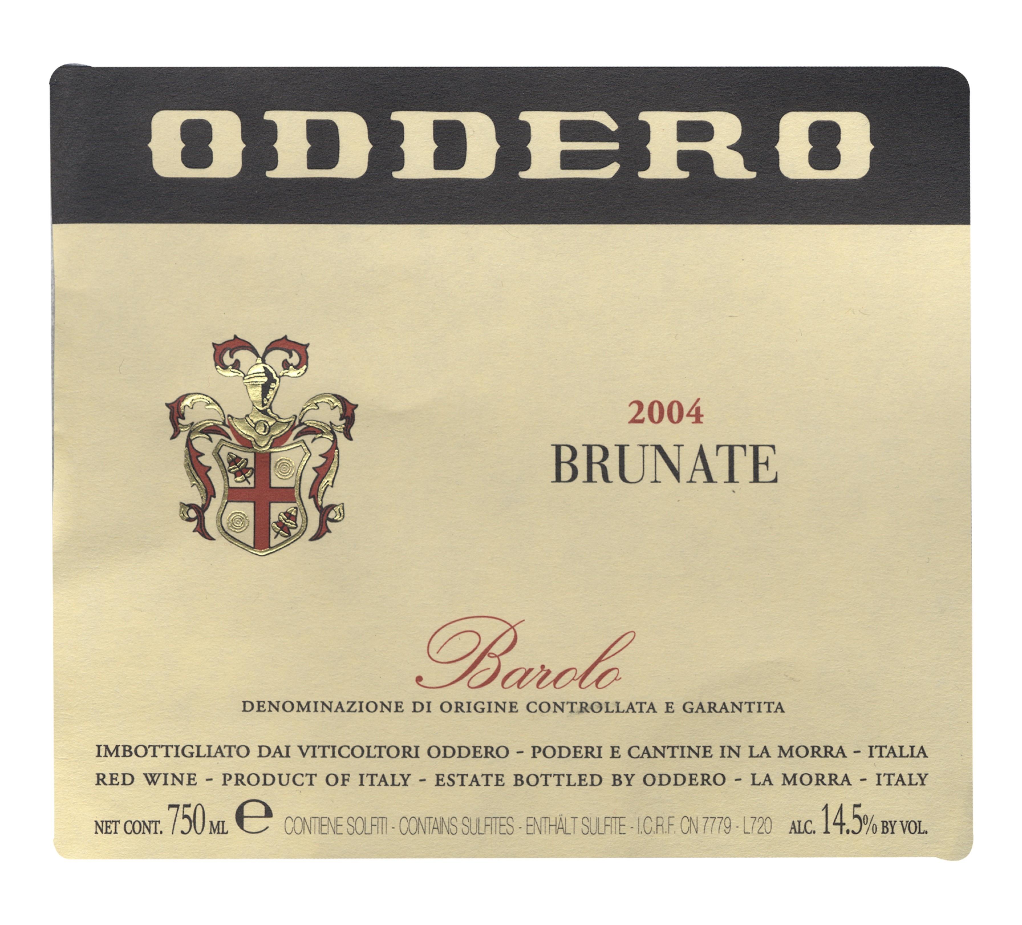 Barolo Brunate 2004 Barolo Brunate Oddero
