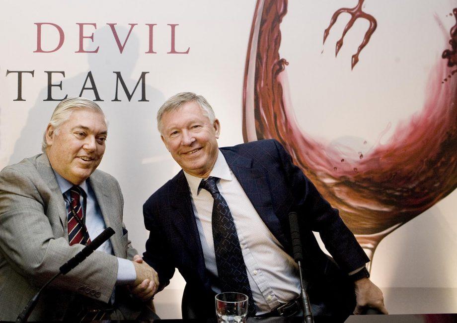 Concha's Chairman, Alfonso Larraín Santa María, and Sir Alex Ferguson