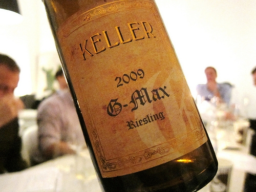 Most expensive Riesling - Keller G-Max