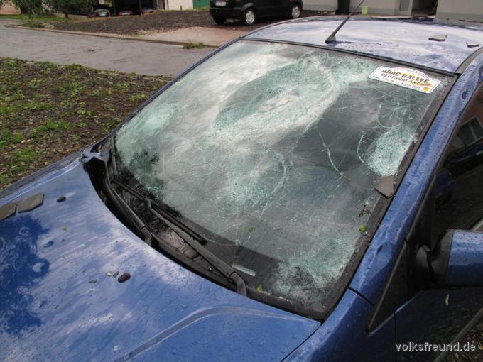 Mosel hail damage