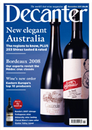 Decanter magazine November 2011
