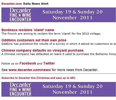 news alert, newsletter
