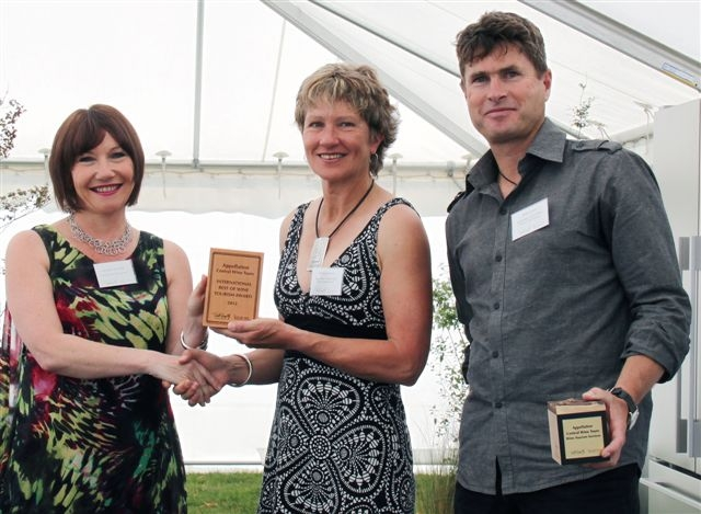 Appellation Central Wine Tours accepting award