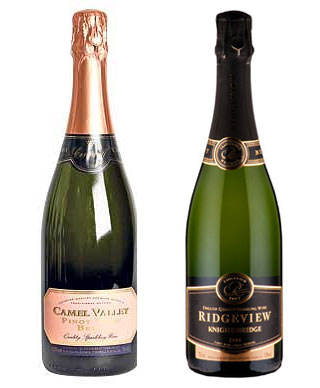 Camel Valley and Ridgeview sparkling wine