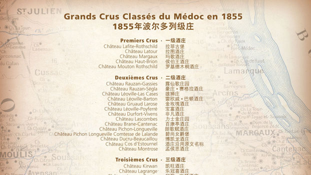 Bordeaux 2011 picture of Christie's Chinese chateau names