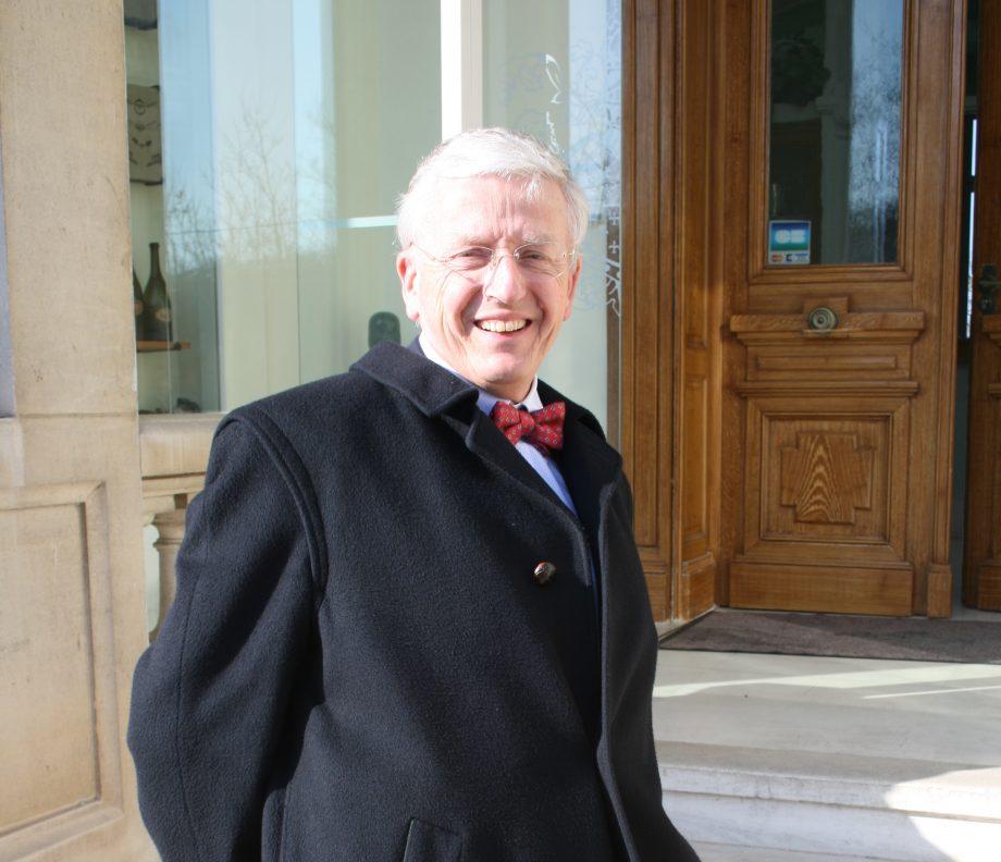 Outgoing Ayala president Herve Augustin