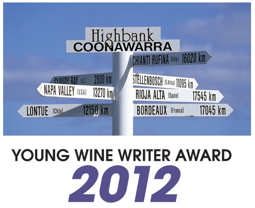young wine writer award