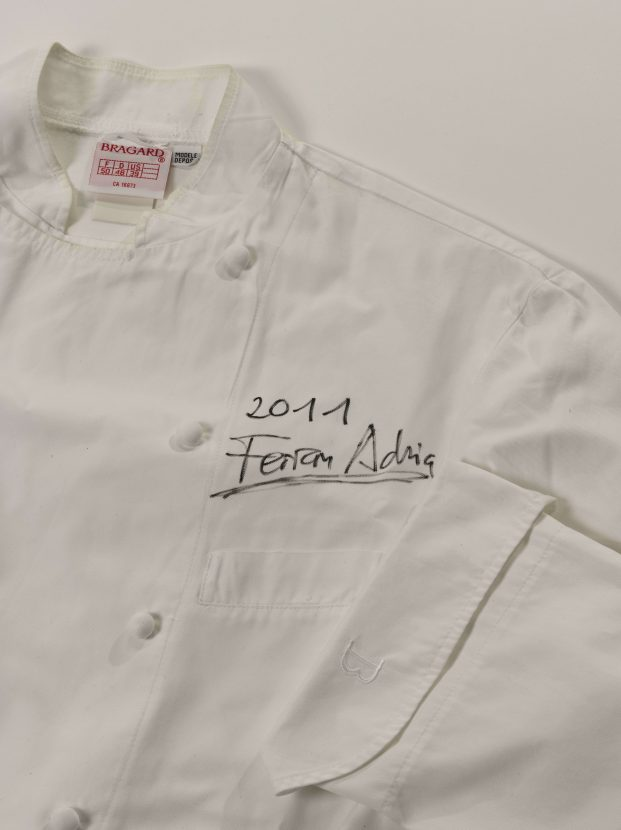 Chef's jacket signed by El Bulli's Ferran Adria