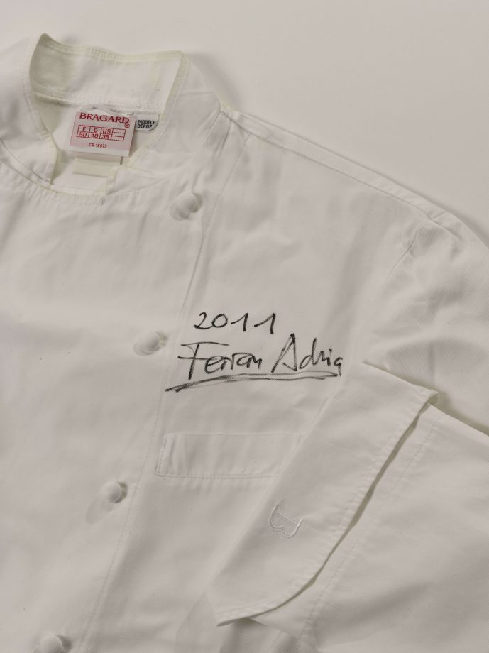 Chef's jacket signed by El Bulli's Ferran Adria