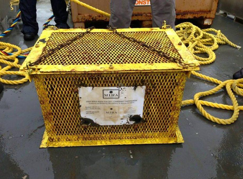 Mira wines submerged in Charleston Harbour
