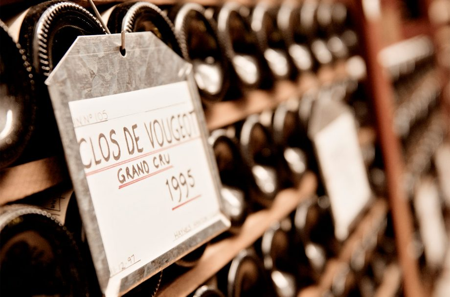 Clos de Vougeot in Government wine cellar