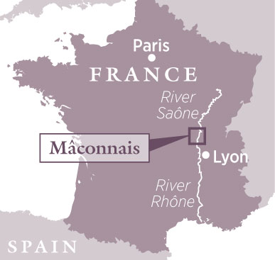 Mâconnais travel guide, map