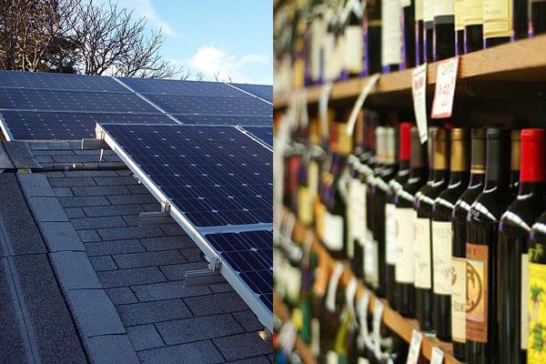 China solar panel EU wine