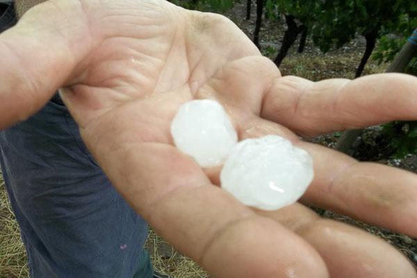Alsace hailstones