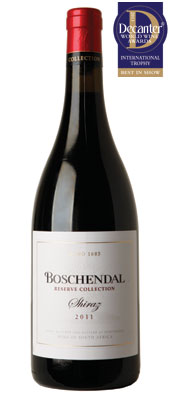 DWWA 2013 International Trophies, Boschendal Reserve Collection Shiraz