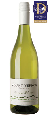 DWWA 2013 International Trophies, Lawson's Dry Hills Mount Vernon Sauvignon Blanc Marlborough New Zealand 2012
