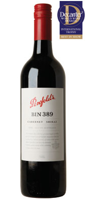 DWWA 2013 International Trophies, Penfolds Bin 389 Cabernet Shiraz