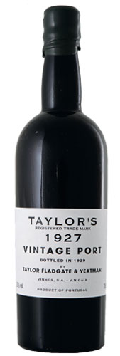 wine legends 2013, Taylor's Vintage Port 1927
