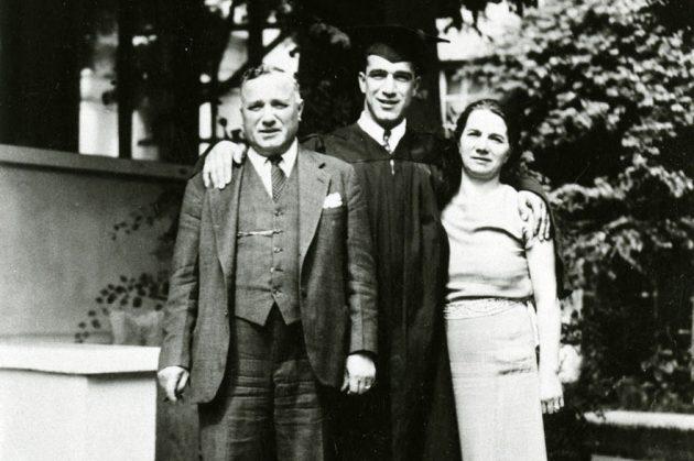 Cesare, Rosa and Robert Mondavi