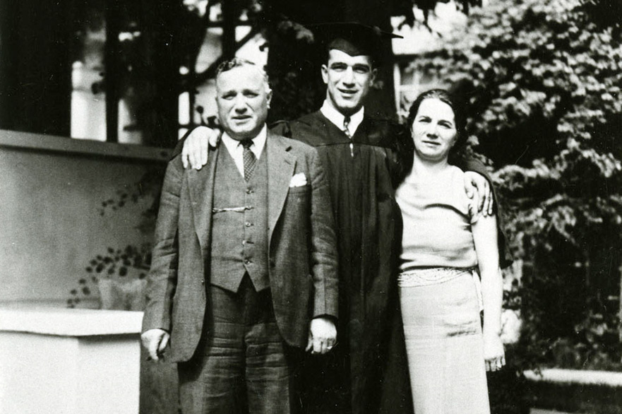Cesare, Rosa and Robert Mondavi